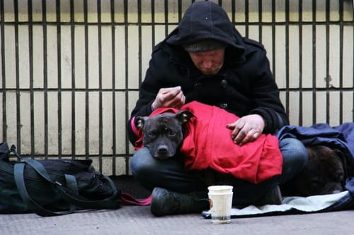 Picture of a homeless man | Christmas gifts for charity